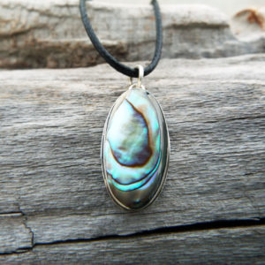 Abalone Pendant Silver Handmade Necklace Shell Sterling 925 Jewelry Sea Ocean Beach μενταγιόν αμπαλονε ασημι