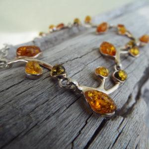 Amber Bracelet Silver Cuff Dangle Chain Sterling 925 Handmade Gemstone Gothic Dark Antique Vintage Jewelry βραχιολι ασημι κεχριμπαρι