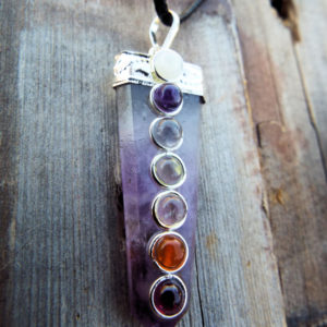 Amethyst pendulum chakra pendant silver necklace handmade gemstone the product is already in the wishlist browse wishlist aloadofball Images