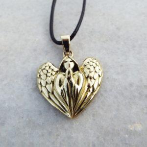 Angel Pendant Handmade Wings Necklace Spiritual Protection Gothic Dark Jewelry