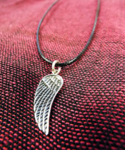 Angel Wings Pendant Silver Handmade Necklace Sterling 925 Gothic Dark Jewelry