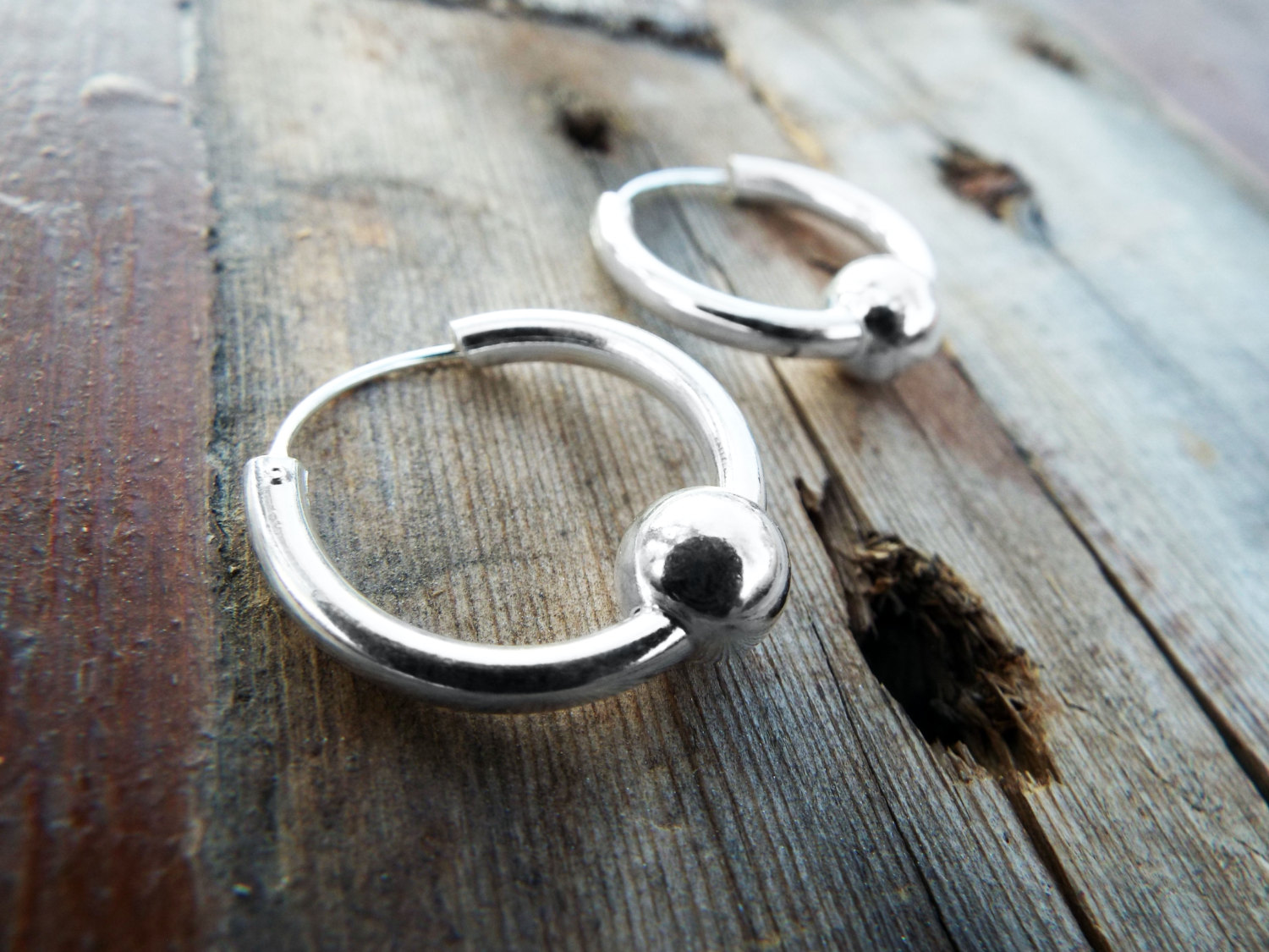 Bali Hoop Earrings Silver Balinese Sterling 925 Tribal Handmade Jewelry Patterned Traditional
