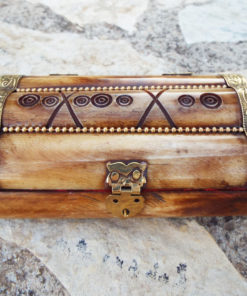 Bone Box Handmade Trinket Chest Carved Jewelry Box Antique Vintage