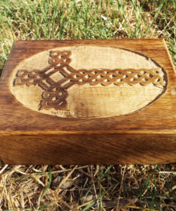 Box Cross Wooden Crucifix Celtic Mango Tree Jewelry Knot Handmade Symbol Carved Eco Friendly Home Decor Trinket