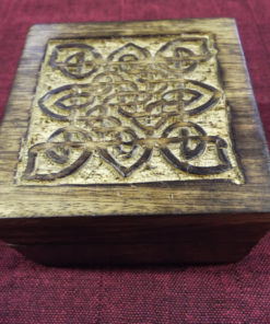 Box Wooden Chest Mango Tree Jewelry Celtic Knot Handmade Carved Treasure Chest Eco Friendly Home Decor Trinket 10