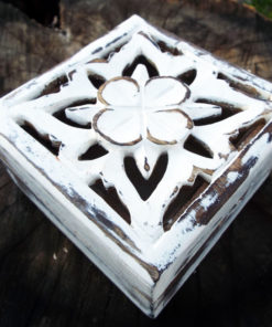 Box Wooden Flower Jewelry Carved Handmade Antique Vintage Home Decor Indian Floral Mango Tree Wood Trinket Treasure Chest Eco Friendly