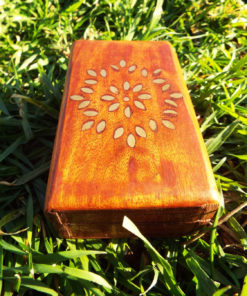 Box Wooden Flower Jewelry Carved Handmade Home Decor Indian Floral Wood Trinket Treasure Chest