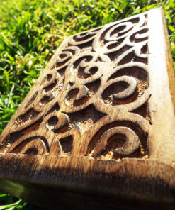 Box Wooden Handmade Carved Spiral Swirl Symbol Celtic Jewelry Box Home Decor Mango Tree Wood Eco Friendly