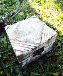 Box Wooden Jewelry Diamond Carved Handmade Antique Vintage Home Decor Mango Tree Wood Trinket Treasure Chest Eco Friendly
