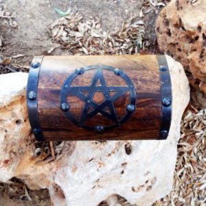 Box Wooden Pentagram Star Wiccan Magic Witch Spell Treasure Chest Ritual Wooden Handmade Gothic Dark Handcrafted