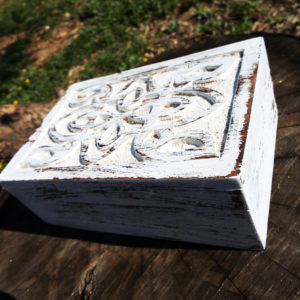 Box Wooden Trinket Wood Chest Handmade Jewelry Celtic Knot Carved Mango Tree Wood Eco Friendly Home Decor