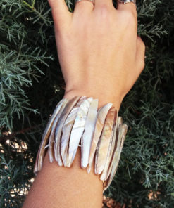 Bracelet Abalone Shell Seashell Handmade Cuff Beach Jewelry Ocean Summer Sea