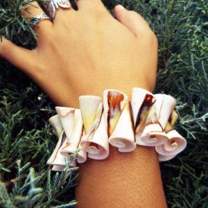 Bracelet Shell Seashell Spiral Handmade Cuff Beach Jewelry Ocean Summer Sea