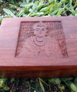 Buddha Box Handmade Wooden Chest Mango Tree Wood Jewelry Symbol Buddhism Buddhist Eco Friendly