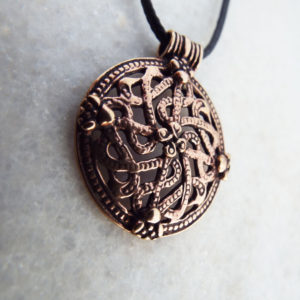 Celtic Pendant Viking Necklace Handmade Battle Shield Ancient Symbol Gothic Dark Jewelry