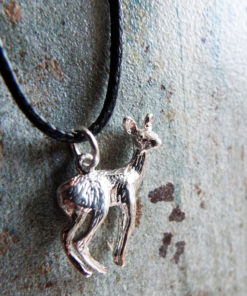 Deer Pendant Silver Handmade Necklace Sterling 925 Animal Symbol Forest Faerie Magic Jewelry