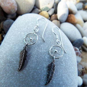 Earrings Dreamcatcher Silver Handmade Sterling 925 Indian Native American Protection Jewelry Bohemian