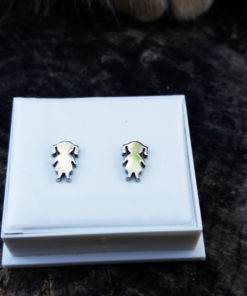 Earrings Studs Girls Silver Handmade Child Young Girl Symbol Cute Children Fun Feminine Jewelry