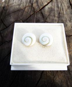 Earrings Studs Shiva Shell Silver Seashell Handmade Sterling 925 Jewelry Beach Summer