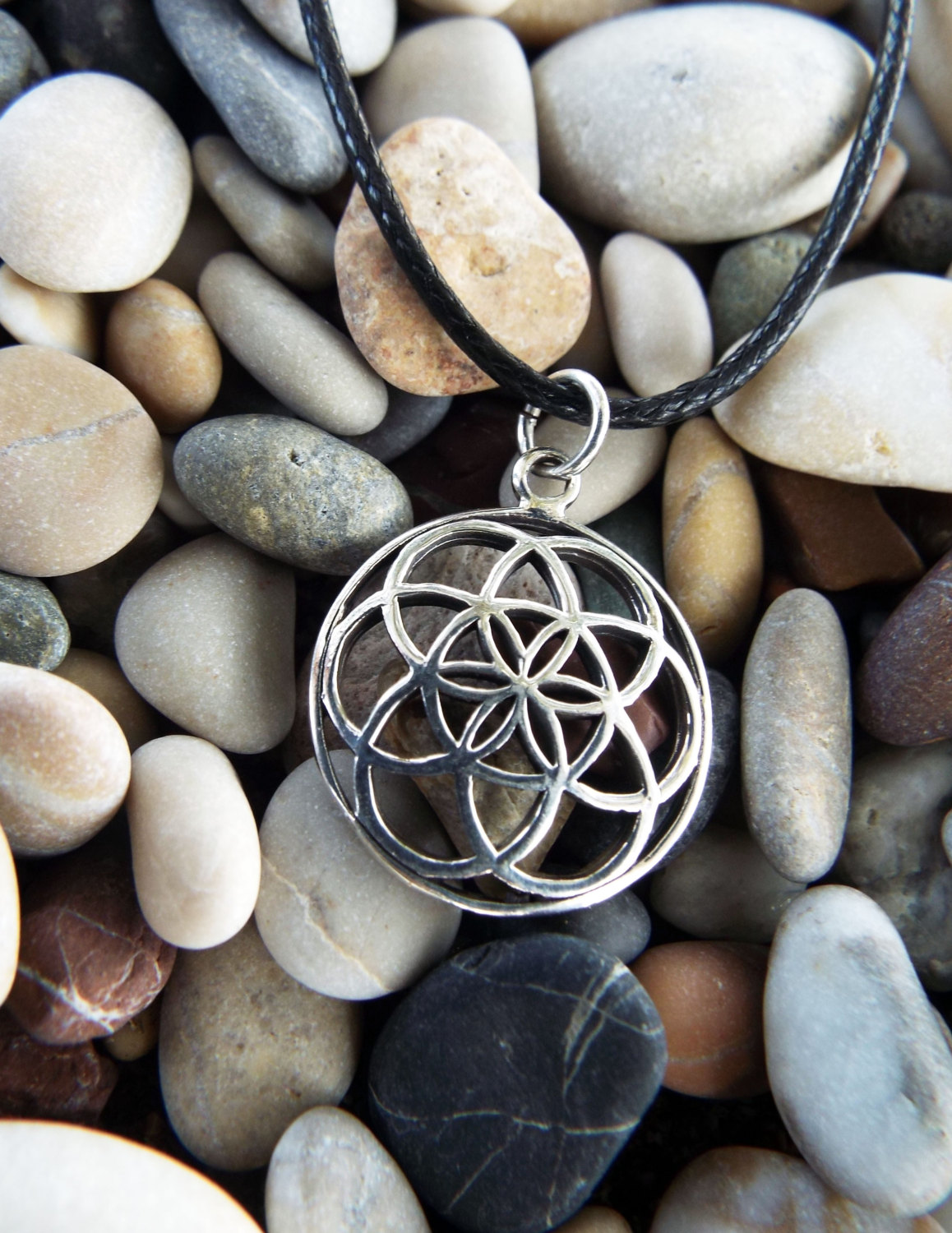 Flower of life seed of life pendant silver handmade sterling 925 flower of life seed of life pendant silver handmade sterling 925 necklace protection ancient symbol necklace mozeypictures Gallery