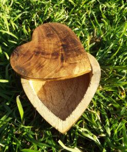 Heart Box Handmade Wooden Trinket Jewelry Chest Mango Tree Wood Eco Friendly Valentine