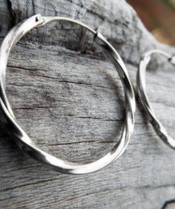 Hoop Earrings Silver Bali Balinese Sterling 925 Tribal Handmade Jewelry Classic Traditional