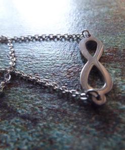 Infinity Symbol Pendant Lemniscate Silver Handmade Necklace Gothic Jewelry