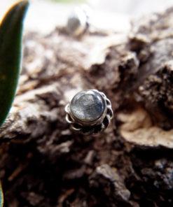 Labradorite Earrings Studs Gemstone Stone Handmade Silver Gothic Dark Sterling 925 Jewelry