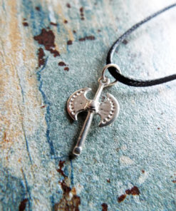 Labrys Pendant Silver Double Axe Necklace Symbol Sterling Handmade Ancient Greek 925 Jewelry