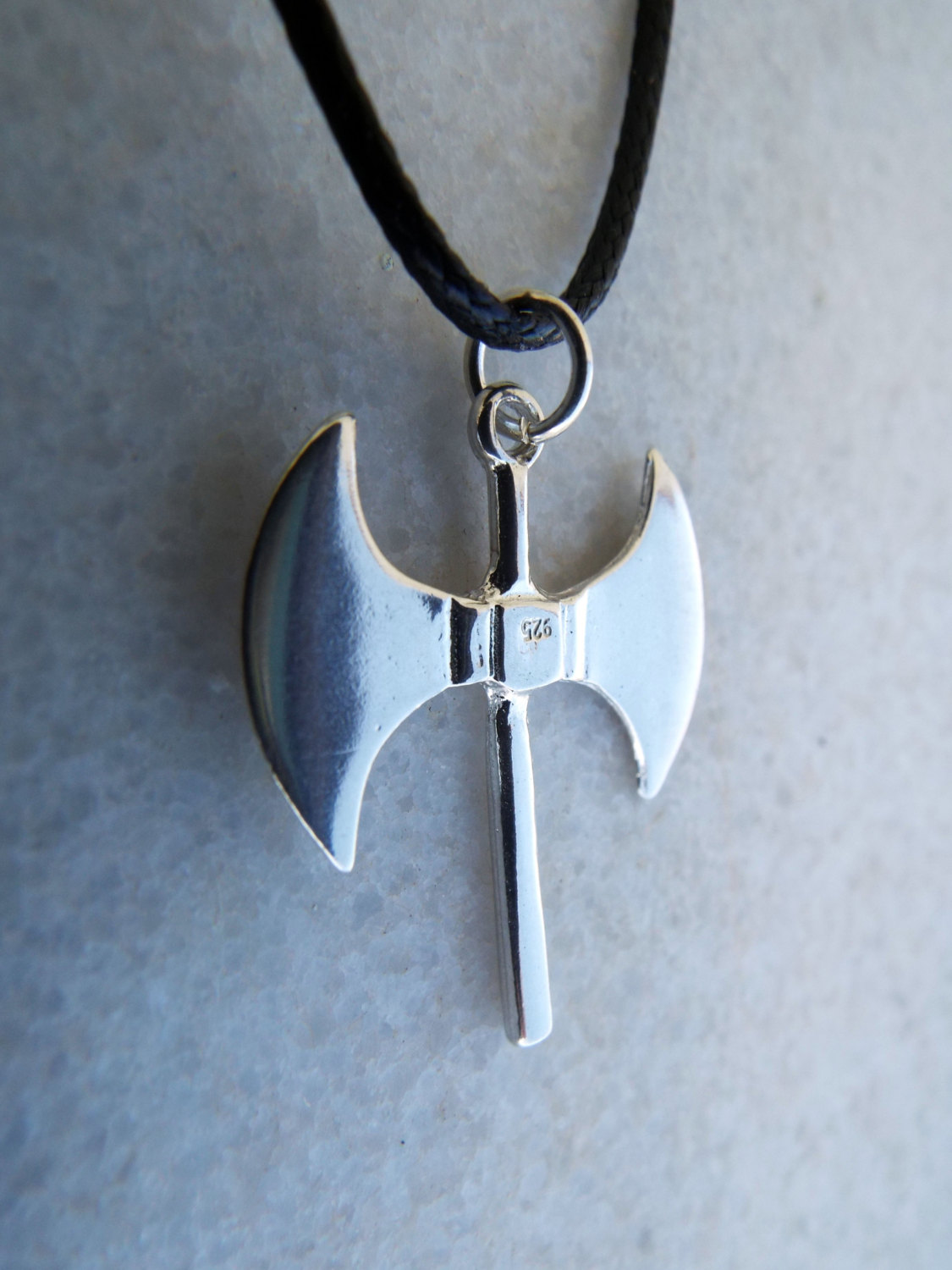Labrys Pendant Silver Double Axe Necklace Symbol Sterling Handmade