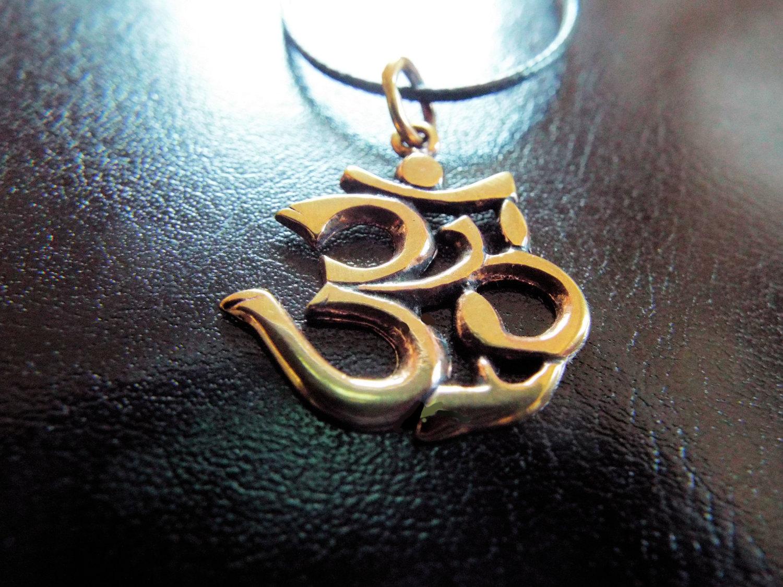 Copper Om Symbol Pendant