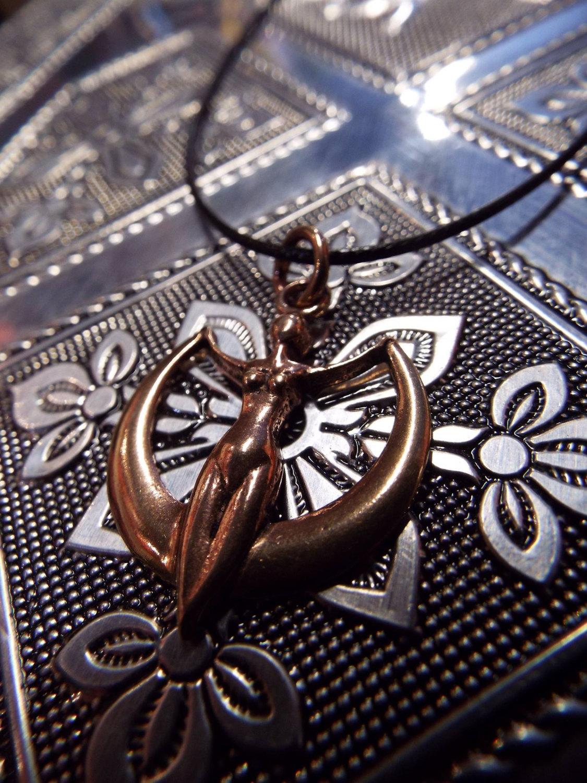 Copper Astra Goddess Pendant
