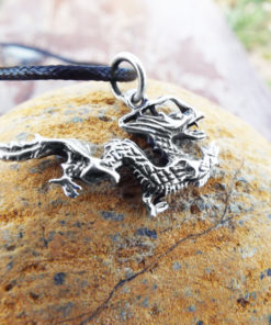 Pendant Dragon Silver Sterling 925 Handmade Gothic Dark Necklace Jewelry 2