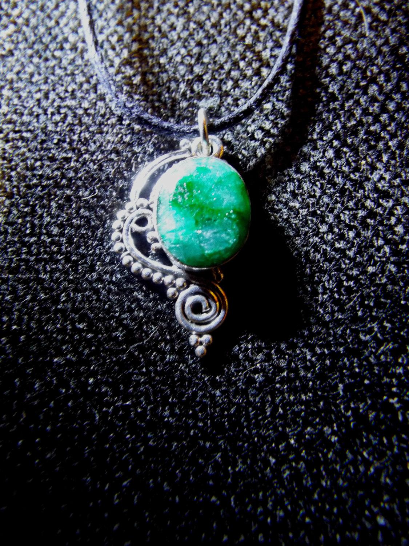 Pendant Silver Emerald Gemstone Handmade Sterling 925 ... - photo#23