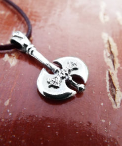 Pendant Silver Labrys Double Axe Symbol Sterling Handmade Ancient Greek 925 Necklace Jewelry