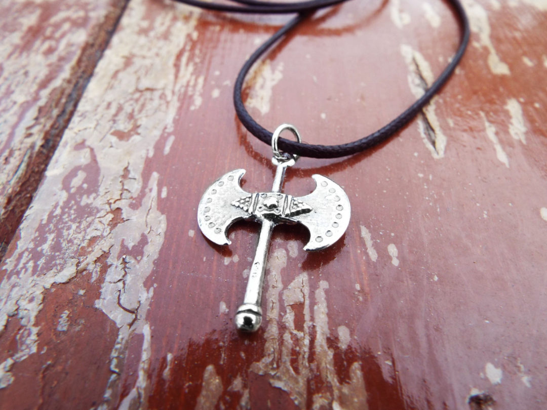 Pendant Silver Labrys Double Axe Symbol Sterling Handmade Ancient