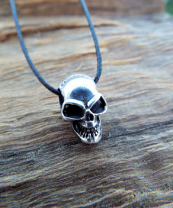 Pendant Skull Silver Sterling 925 Gothic Dark Necklace Jewelry 1