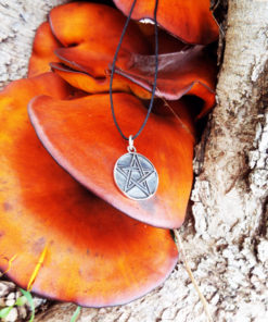 Pentagram Pendant Handmade Silver Necklace Gothic Wiccan Magic Pagan Protection Jewelry