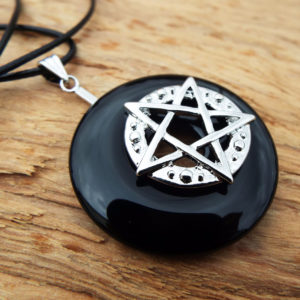Pentagram Pendant Silver Handmade Necklace Star Witch Wicca Fine Pewter Protection Celtic Sterling 925 Gothic Dark Jewelry Symbol