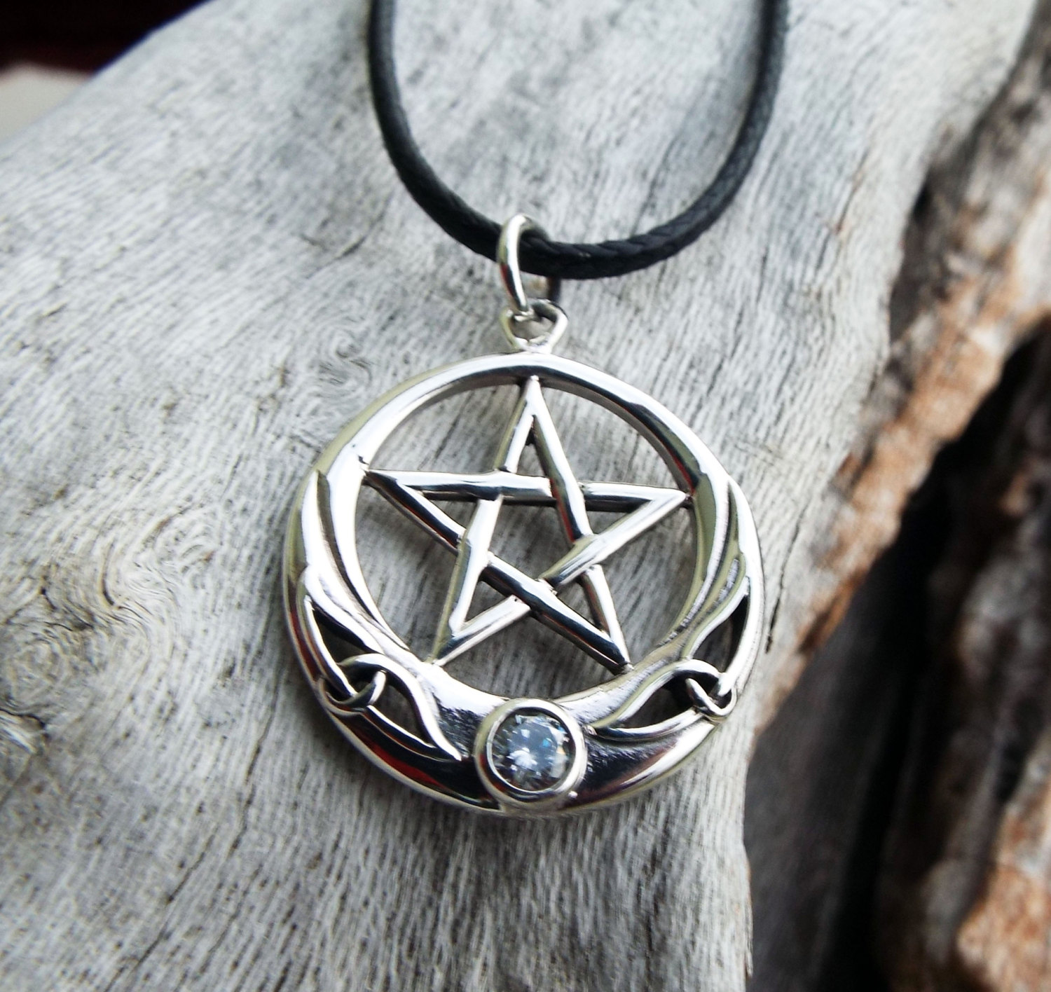 Pentagram Pendant Silver Handmade Necklace Sterling 925 Star Witch