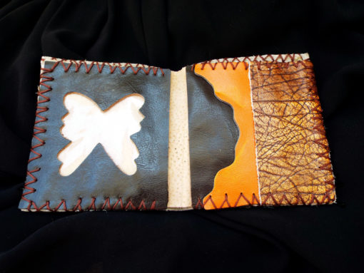 Purse Wallet Pouch Leather Case Butterfly Handmade Pocket 4