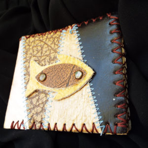 Purse Wallet Pouch Leather Case Fish Handmade Pocket 1