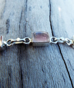Rose Quartz Bracelet Silver Cuff Dangle Chain Sterling 925 Handmade Gemstone Gothic Dark Antique Vintage Jewelry ασημι βραχιολι ροζ χαλαζιας