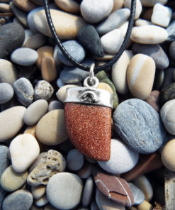 Sandstone Pendant Silver Gemstone Necklace Handmade Sterling 925 Gothic Antique Vintage Jewelry Bohemian
