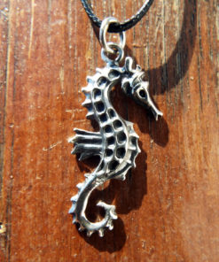 Seahorse Pendant Silver Handmade Sterling 925 Necklace Sea Jewelry Beach Ocean
