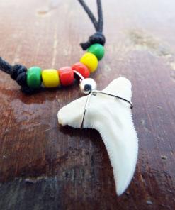 Shark Tooth Necklace Pendant Jamaican Handmade Real Jewelry Sea Ocean Beach