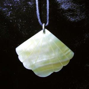 Shell Pendant Abalone Necklace Handmade Jewelry Seashell Beach Eco Friendly