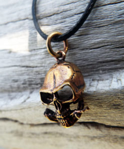 Skull Pendant Handmade Necklace Skeleton Pirate Gothic Dark Rose Flower Floral Jewelry Death Dagger Sword Corpse