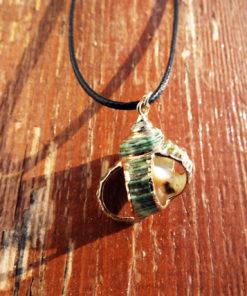 Spiral Seashell Handmade Necklace Pendant Sea Ocean Beach Summer Bohemian Bronze Jewelry