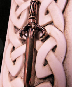 Sword Dragon Pendant Claw Bronze Magic Dark Gothic Battle Strength
